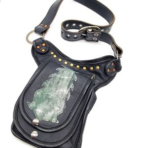 Earth Ninja Leather Mini Bag